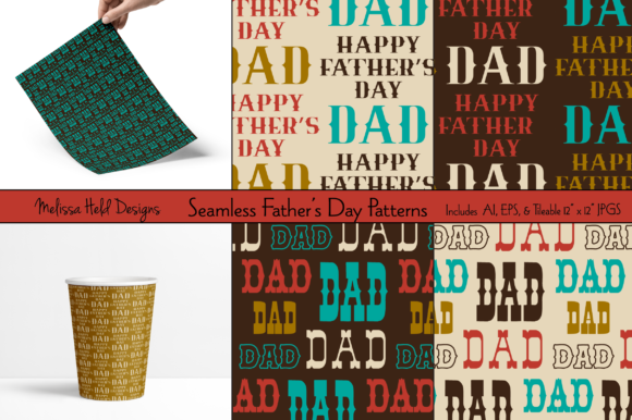 Download Free Seamless Father S Day Patterns Graphic By Melissa Held Designs for Cricut Explore, Silhouette and other cutting machines.