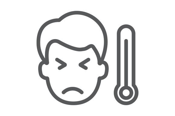 Download Free Sick Man With Thermometer Graphic By Amin Yusifov Creative Fabrica for Cricut Explore, Silhouette and other cutting machines.
