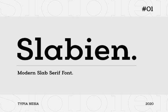 Print on Demand: Slabien Slab Serif Font By Typia Nesia