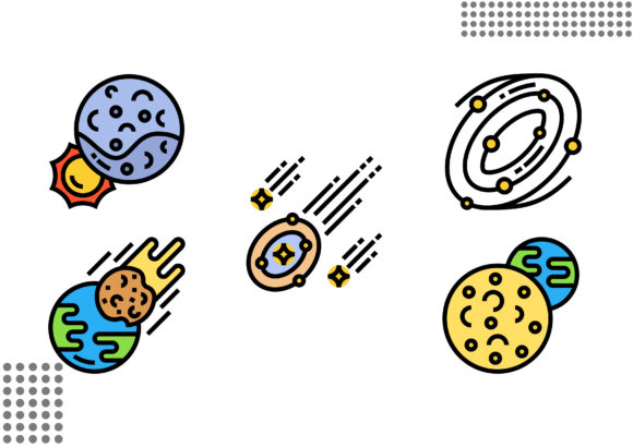 Space Graphic Icons By cool.coolpkm3