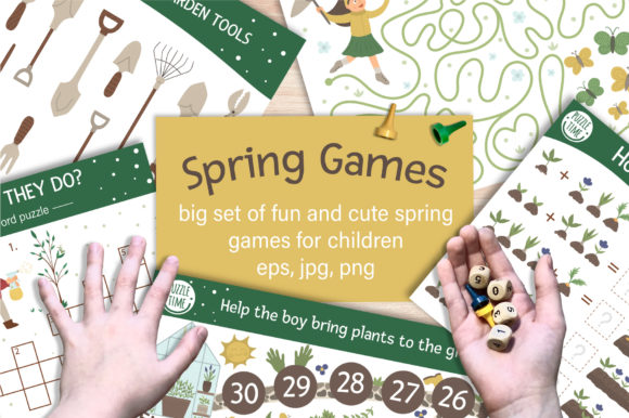 Spring Games Graphic Teaching Materials By lexiclaus