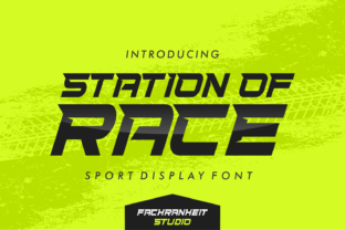 Print on Demand: Station of Race Display Font By fachranheit