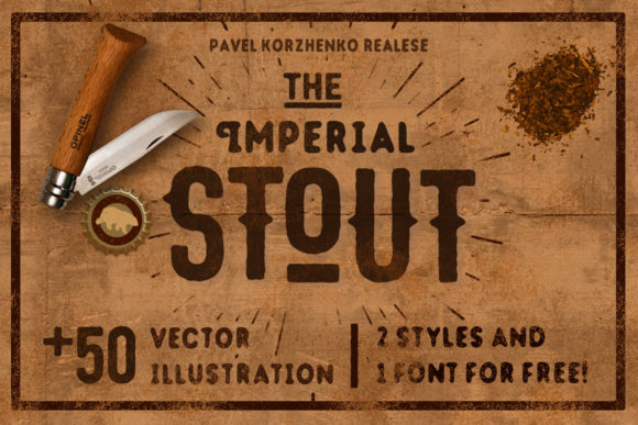Print on Demand: Stout Display Font By vintagevoyageco