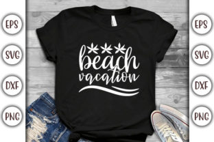Print on Demand: Summer Beach Design, Beach Vacation Graphic Print Templates By GraphicsBooth