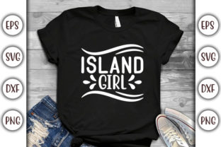 Print on Demand: Summer Beach Design, Island Girl Graphic Print Templates By GraphicsBooth