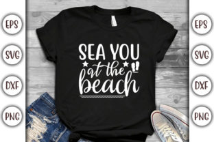 Print on Demand: Summer Beach Design, Sea You at the Graphic Print Templates By GraphicsBooth