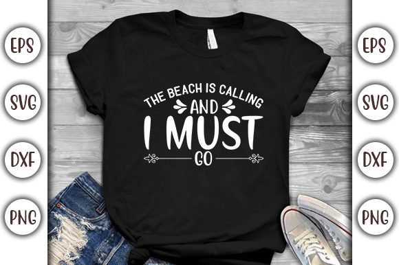 Print on Demand: Summer Beach Design, the Beach is Graphic Print Templates By GraphicsBooth
