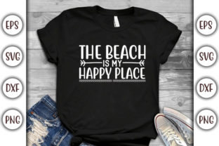 Print on Demand: Summer Beach Design, Beach Happy Place Graphic Print Templates By GraphicsBooth