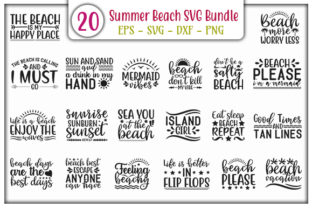 Download Free Summer Beach Quotes Bundle Graphic By Graphicsbooth Creative for Cricut Explore, Silhouette and other cutting machines.