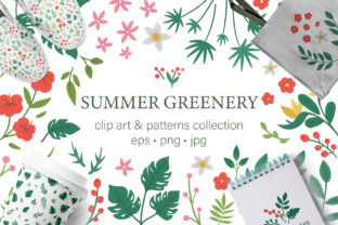 Summer Greenery Graphic Illustrations By lexiclaus