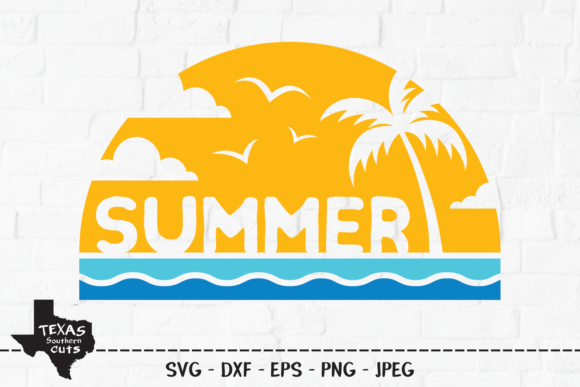 Print on Demand: Summer Shirt Design Graphic Crafts By texassoutherncuts