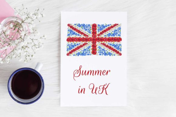 Download Free Summer In The Uk Floral Union Flag Clip Graphic By Reddotshouse for Cricut Explore, Silhouette and other cutting machines.