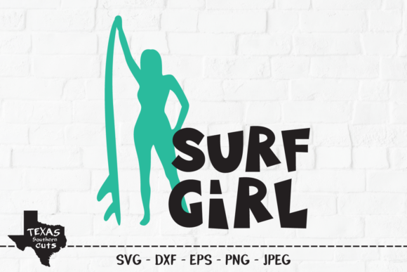 Download Free Surf Girl Shirt Design Graphic By Texassoutherncuts Creative for Cricut Explore, Silhouette and other cutting machines.