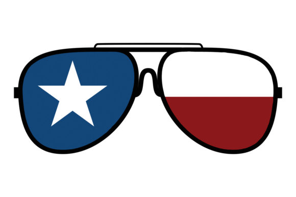 Print on Demand: Texas State Flag Sunglasses Graphic Logos By SunandMoon - Image 1