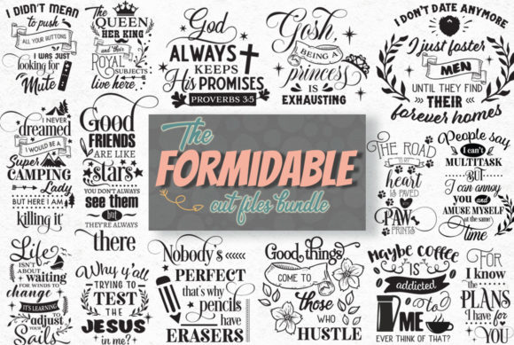 The Formidable Cut Files Bundle Graphic