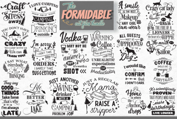 The Formidable Cut Files Bundle Graphic Download