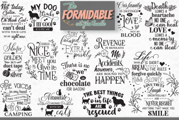 Download Free The Formidable Cut Files Bundle Graphic By Nerd Mama Cut Files for Cricut Explore, Silhouette and other cutting machines.
