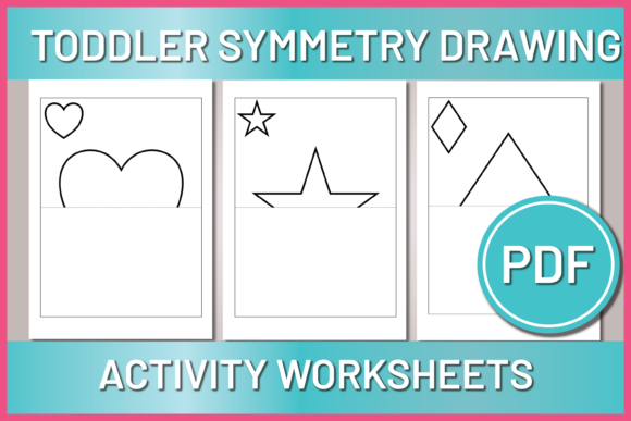 Print on Demand: Toddler Symmetry Shape Drawing Graphic Print Templates By AscendPrints