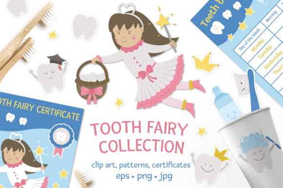 Tooth Fairy Collection Graphic Illustrations By lexiclaus
