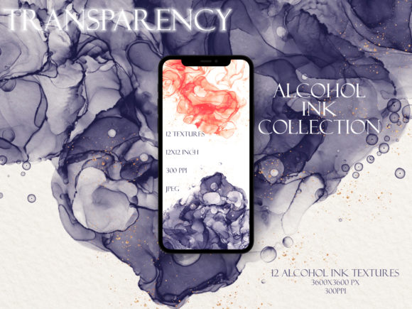 Transparency Alcohol Ink Collection Graphic Backgrounds By liquid amethyst art