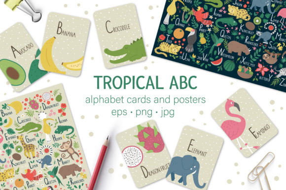 Tropical ABC Graphic Teaching Materials By lexiclaus - Image 1