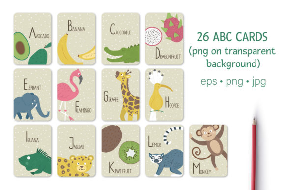 Tropical ABC Graphic Download