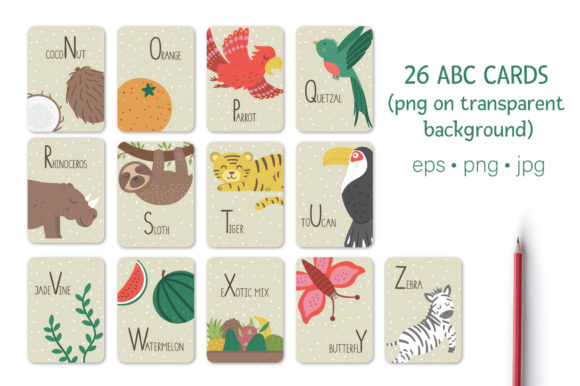 Tropical ABC Graphic Teaching Materials By lexiclaus - Image 3