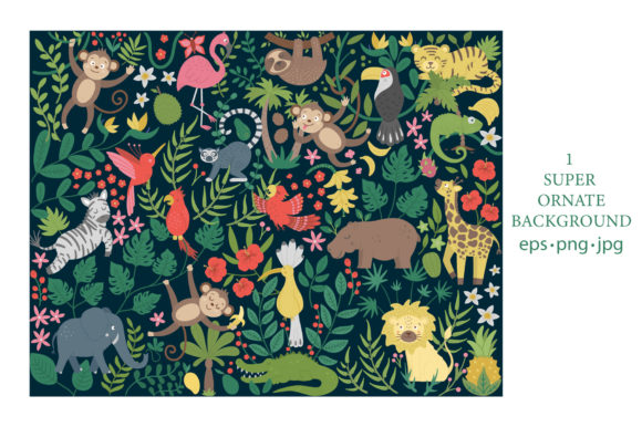 Download Free Tropical Adventures Graphic By Lexiclaus Creative Fabrica for Cricut Explore, Silhouette and other cutting machines.