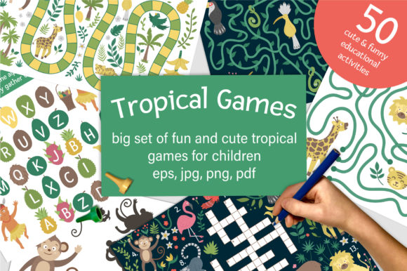 Tropical Games Graphic Teaching Materials By lexiclaus