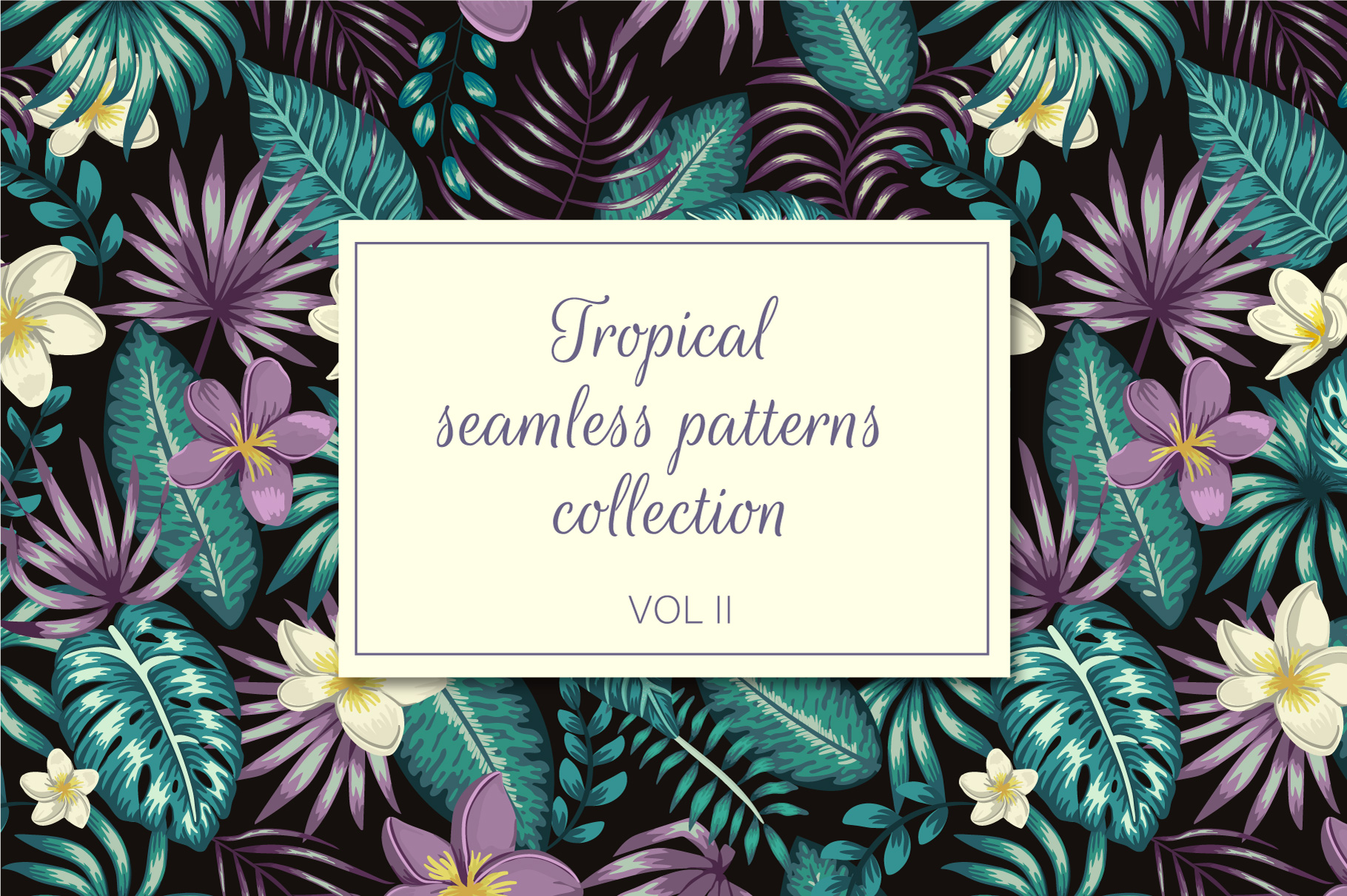 Download Free Tropical Patterns Vol Ii Graphic By Lexiclaus Creative Fabrica for Cricut Explore, Silhouette and other cutting machines.