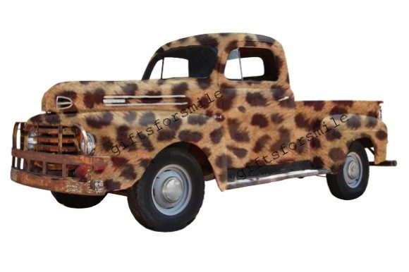 Truck Vintage Leopard USA Graphic Print Templates By aarcee0027
