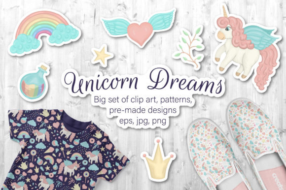 Unicorn Dreams Graphic Illustrations By lexiclaus