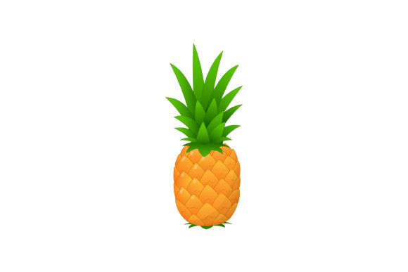 Download Free Vector Design Of Fresh Pineapple Fruit Graphic By Sabavector for Cricut Explore, Silhouette and other cutting machines.