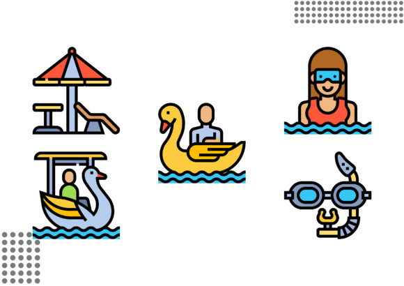 Download Free Water Park Graphic By Cool Coolpkm3 Creative Fabrica for Cricut Explore, Silhouette and other cutting machines.