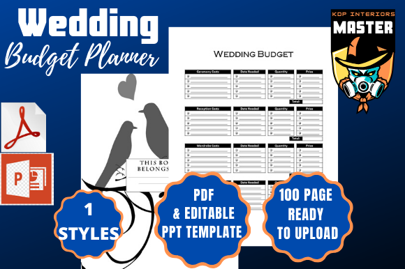 Download Free Wedding Budget Planner Graphic By Kdp Interiors Master Creative Fabrica for Cricut Explore, Silhouette and other cutting machines.