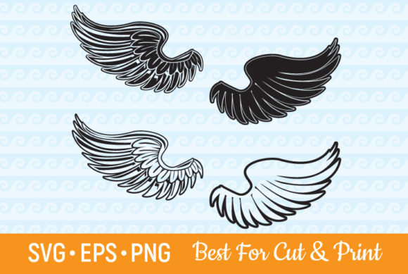 Download Free Wings Angel Heaven Flying Feather Graphic By Olimpdesign for Cricut Explore, Silhouette and other cutting machines.