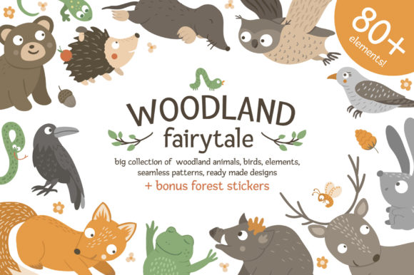 Woodland Fairytale Graphic Illustrations By lexiclaus