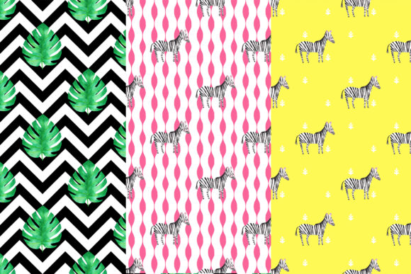 Download Free Zebra Digital Papers Graphic By Bonadesigns Creative Fabrica for Cricut Explore, Silhouette and other cutting machines.
