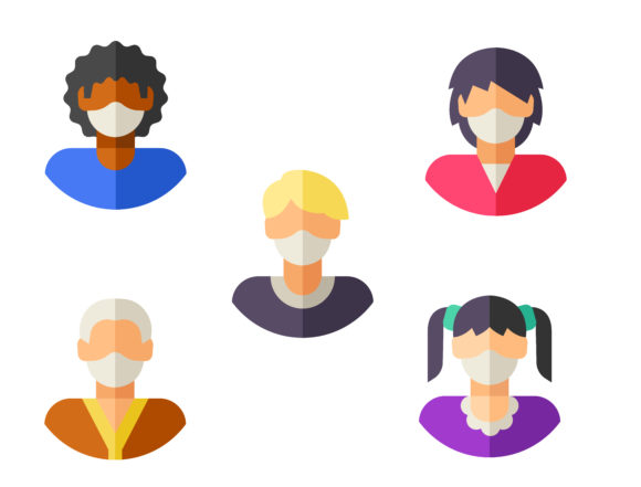 Avatars-with-medical-masks Graphic Icons By ssiimpti73