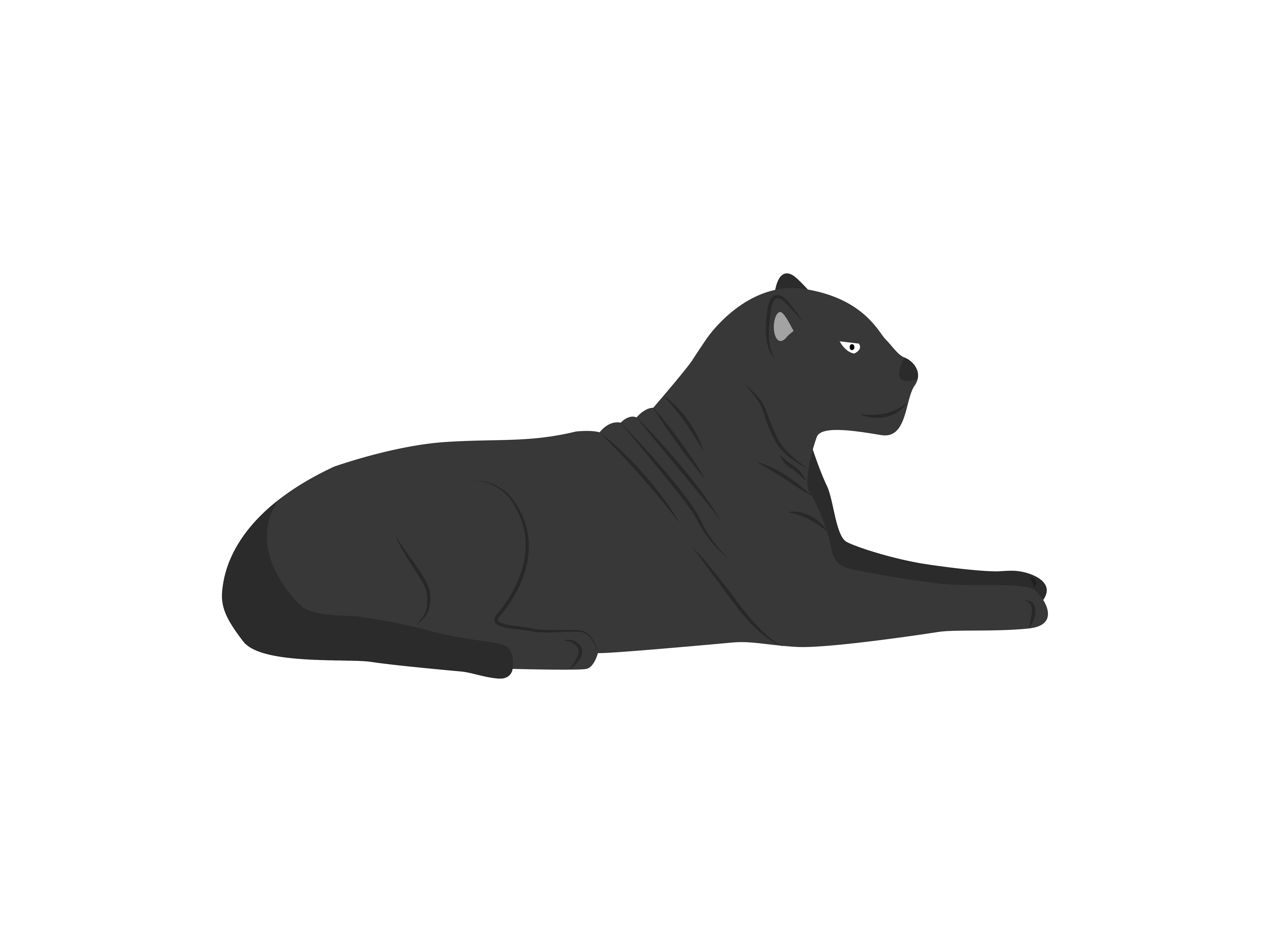 Download Free Black Panther Animal Graphic By Archshape Creative Fabrica for Cricut Explore, Silhouette and other cutting machines.
