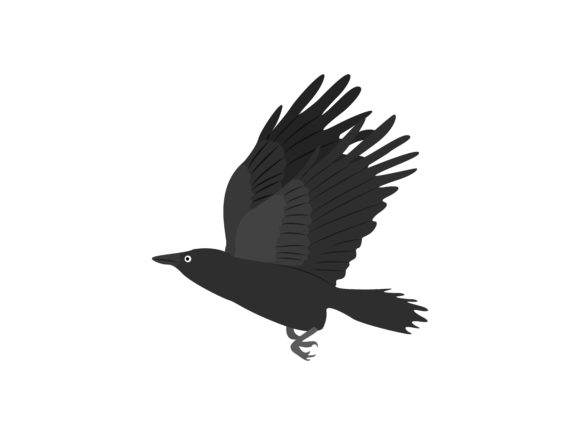 Download Free Crow Flapping Its Wings Animal Graphic By Archshape Creative for Cricut Explore, Silhouette and other cutting machines.