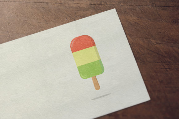 Download Free Flat Design Of Ice Cream Graphic By Sabavector Creative Fabrica for Cricut Explore, Silhouette and other cutting machines.