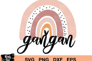Download Free Gangan Rainbow Graphic By Roxysvg26 Creative Fabrica for Cricut Explore, Silhouette and other cutting machines.