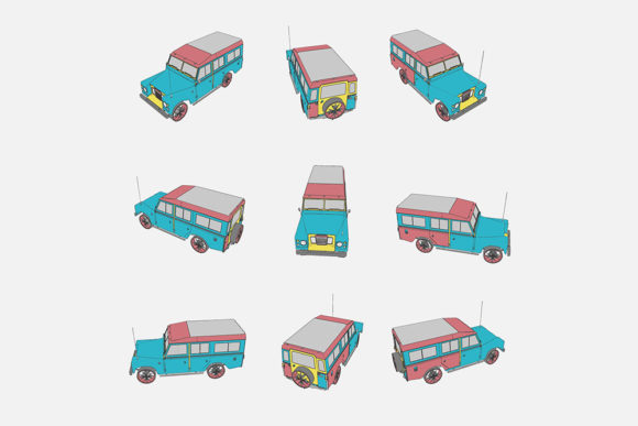 Download Free Illustration Of A Car Graphic By Gblack Id Creative Fabrica for Cricut Explore, Silhouette and other cutting machines.