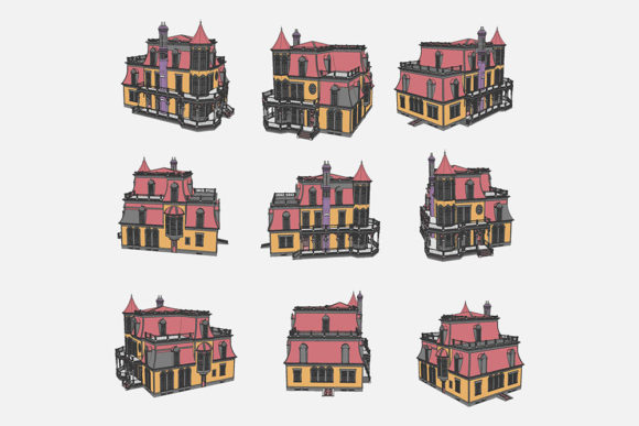 Download Free Illustration Of A House Graphic By Gblack Id Creative Fabrica for Cricut Explore, Silhouette and other cutting machines.