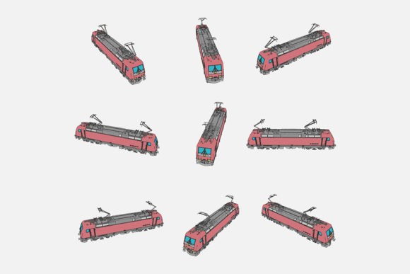 Download Free Illustration Of A Train Graphic By Gblack Id Creative Fabrica for Cricut Explore, Silhouette and other cutting machines.