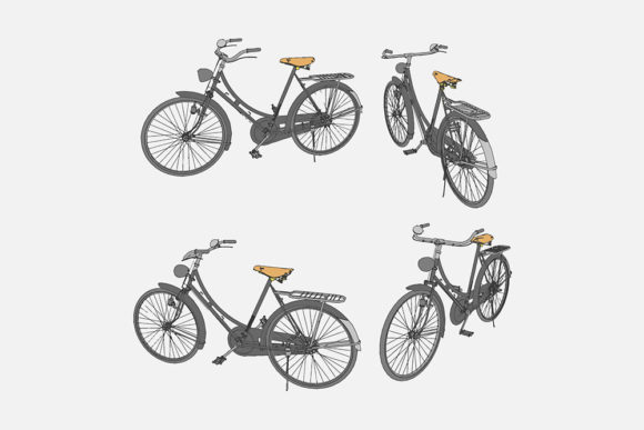 Print on Demand: Illustration of an Bicycle Graphic Illustrations By Gblack Id