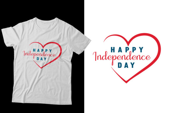 Download Free Independence Day Love T Shirt Design Graphic By Storm Brain for Cricut Explore, Silhouette and other cutting machines.