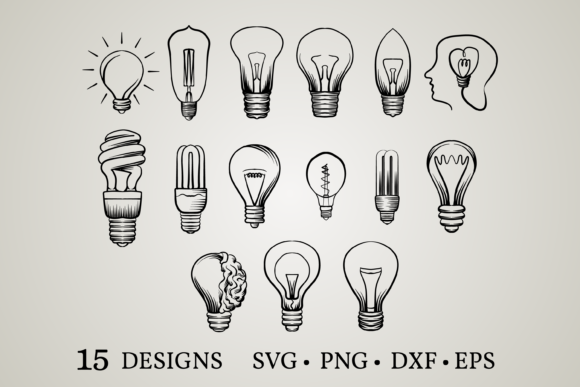Download Free 1 Lightbulb Svg Designs Graphics for Cricut Explore, Silhouette and other cutting machines.