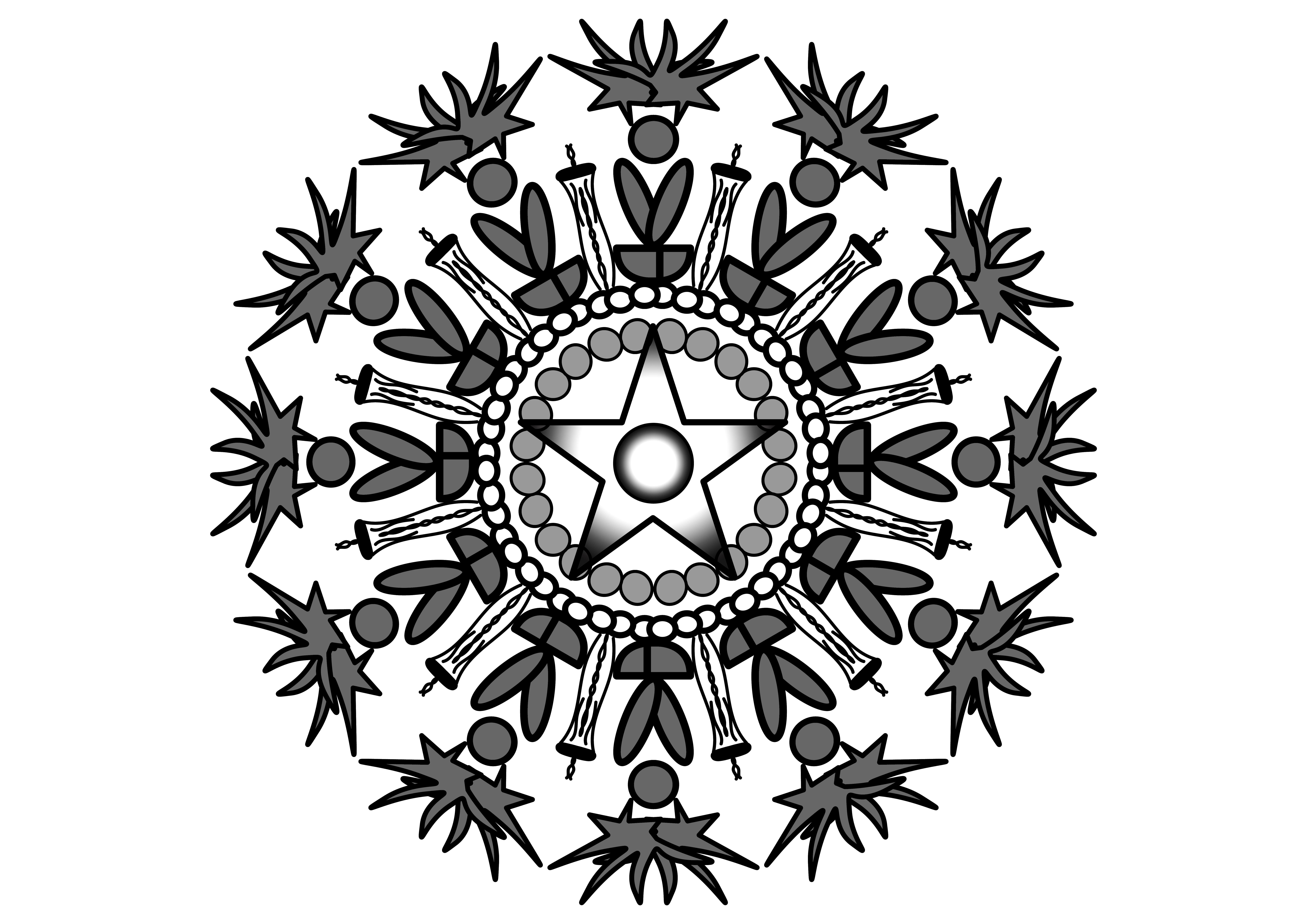 Download Free Mandala Grey Graphic By Ssiimpti73 Creative Fabrica for Cricut Explore, Silhouette and other cutting machines.